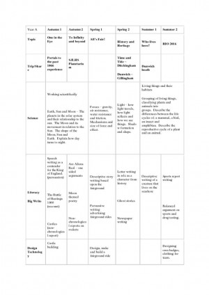 thumbnail of Swan Class Curriculum Map